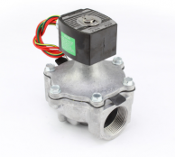 "Asco EF8215G70-24VDC Aluminum Body 2-Way Solenoid Valve 1-1/2"" Normally Closed 0-25Psi 24VDC"