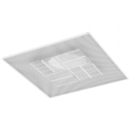"Titus PAS-FR30612X12-165 Fire Rated Ceiling Diffuser 12"" x 12"" with 6"" Inlet"