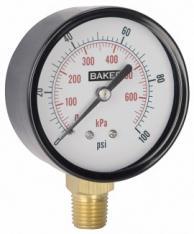 Baker LVBNA-600P Pressure Gauge 0-600 PSI