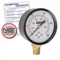 Baker LVBNA-600P Pressure Gauge 0-600 PSI with NIST Traceable Certificate