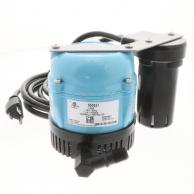 Little Giant 550521 Pump 115V 1/150 HP 9ft Cord